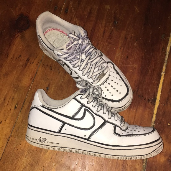 Air force 1 custom joshua vides size 10